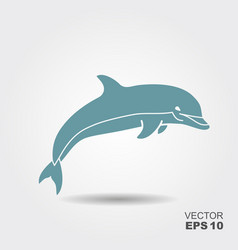 Dolphin icon vector
