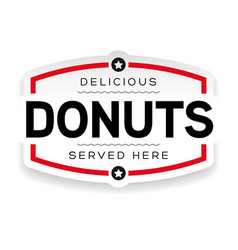 donuts label sign vintage vector image