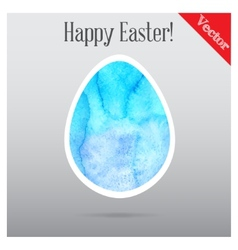 Easter eggs painted in watercolor vector image