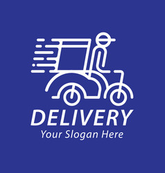 fast and free delivery logo vector image