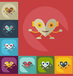 Flat modern design with shadow icons big heart vector