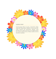 Floral banner circle vector image