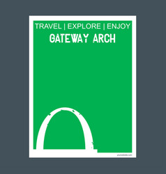 Gateway arch st louis usa monument landmark vector