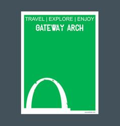 gateway arch st louis usa monument landmark vector image
