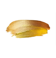 Gold paint stroke stain abstract vector