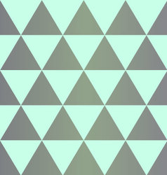 Grey dingy triangles with on mint background vector