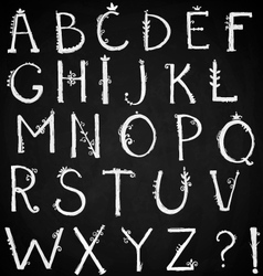 Hand drawn alphabet doodle font vector