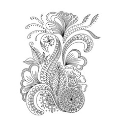 Hand drawn background in doodle or henna style vector