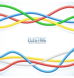 Hanging colored cables background vector