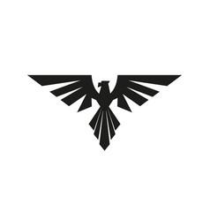 Heraldic eagle logo vector