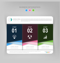 Infographic of step flat design of business icon vector