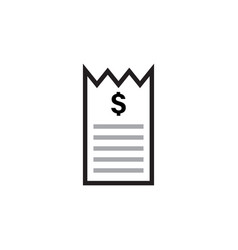 invoice bill icon design template isolated vector image