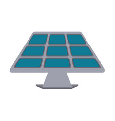 isolated solar panel vector image