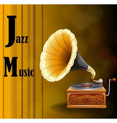 Jazz music vector