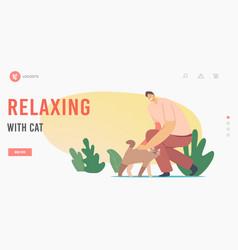 leisure communication love care animals vector image