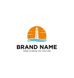 Lighthouse logo design vector