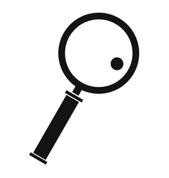 Loupe icon simple style vector