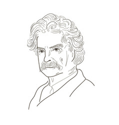 Mark twain sketch vector
