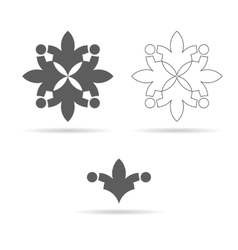 monochrome ornament or geometrical symbol vector image