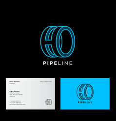 monogram h o pipeline factory business tube plant vector image