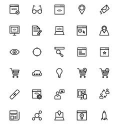 Online marketing Line Icons 1 vector