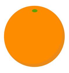 orange fruit icon flat style vector image