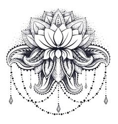 Ornamental Lotus vector