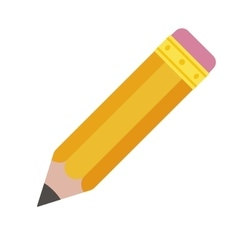 Pencil eraser Orange graphite pencil with pink vector image