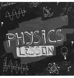 Physics blackboard image vector image