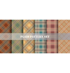 Plaid Patterns set vector image