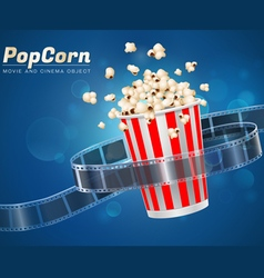Popcorn movie cinema object vector