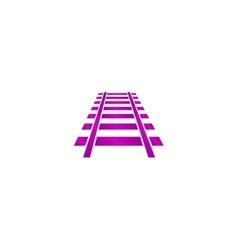 Railroad icon Modern design flat style vector
