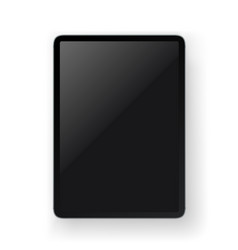 realistic modern tablet gadget layered mock-up vector image