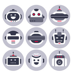 robot icon robotic chatbot avatar computer chat vector image