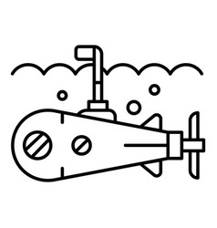 sea submarine periscope icon outline style vector image
