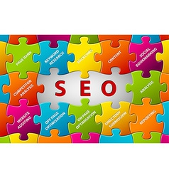SEO puzzle background vector