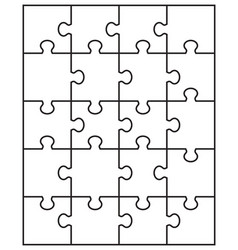 separate parts of puzzle vector image