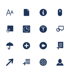Simple set icon for app programs and sites vector