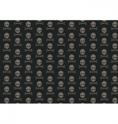 skull and bone pattern vector image