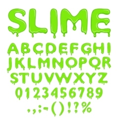 Slime alphabet numbers and symbols vector