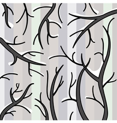 snow on branches vector image vector image