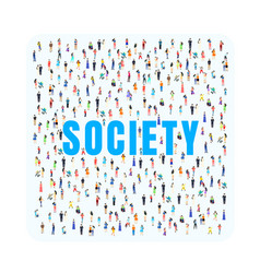 Society people city social public background vector
