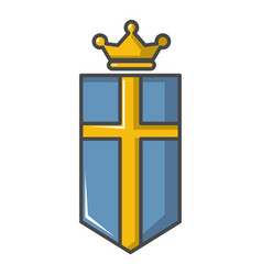 sweden crown icon cartoon style vector image