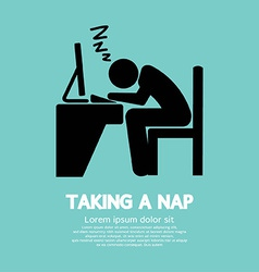 Taking a Nap Graphic Symbol vector image