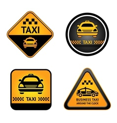 Taxi cab set stickers vector