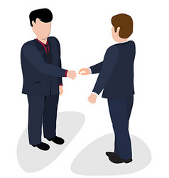 Trade shaking hands vector image