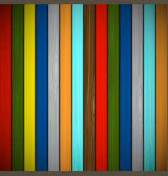 Wooden background of multicolored boards vector
