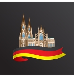 World famous cologne cathedral greatest landmarks vector