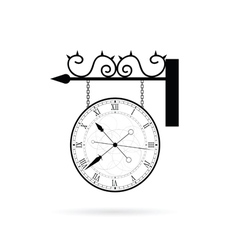 clock elegant on white vector image