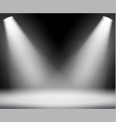 dark background with spotlights light studio vector image